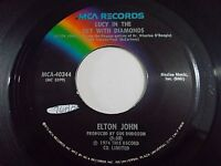 Elton John Lucy In The Sky With Diamonds / One Day At A Time 45 Vinyl Record
