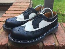 Dr Martens 10458 Black White Leather Wingtip Oxford Brogue Shoes UK6.5 EU40 VGC