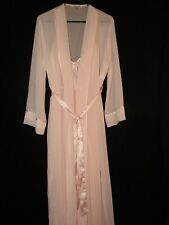 Linea Donatella Pleated Light Pink Night Gown With Robe in size Medium