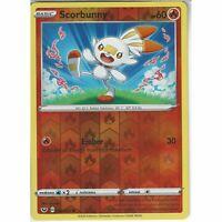 030/202 Scorbunny | Common Reverse Holo Card Pokemon TCG Sword & Shield Base Set