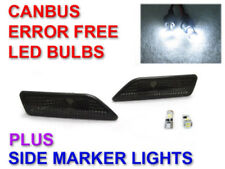 LAST SET Smoke Bumper Side Markers + Canbus LED Bulbs For 2006-2010 W219 CLS550