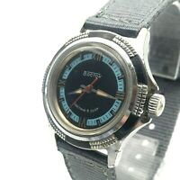 USSR Bicolored VOSTOK Ribbed Casual Mechanical SERVICED Men's Vintage Watch 3ATM