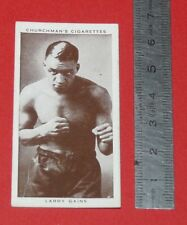 CHURCHMAN CIGARETTES CARD 1938 BOXING PERSONALITIES BOXE LARRY GAINS CANADA