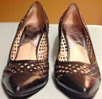 Michael Kors Pump Women's Size 7.5 M Black Perforated Leather Slip On Heel Shoe