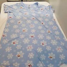 White Stag Womens Sleep Shirt Size 2X/3X 20W-24W Blue Snowflake Snowman (R02)