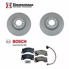 For Porsche Cayenne 2011-2012 Front Disc Brake Rotor w/ Pads & Sensor OEM