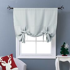 NICETOWN Thermal Insulated Blackout Curtain - Tie Up Shade for Small Window (...