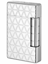 S.T. DUPONT ACCENDINO INITIAL LIGHTER BRONZO ARGENTO SILVER 020805 FIRE HEAD