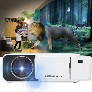Multimedia 4K 480P WiFi LCD LED Proyector Home Cinema 10000LM USB / HDMI / AV /