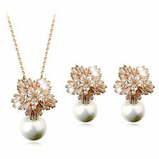 Rose Gold Plated Clear Coloured Fashion Jewellery Sets
