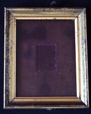 Ancien cadre présentoir bois doré pour petits objets Old stand frame XIX