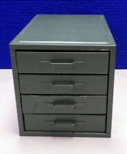 Vintage 4 Drawer Industrial Green Metal Cabinet For Jewelry Parts Small Items