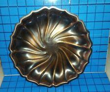 """Copper Craft Guild 10"""" Diam Scalloped Edge Plate Dish Taunton, Mass.Orig Tag"""