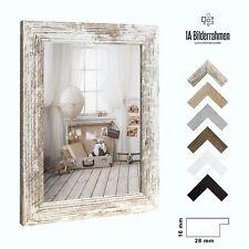 Bilderrahmen Orion Weiß Vintage Holz MDF Foto Poster Puzzle Rahmen Größe Wählbar