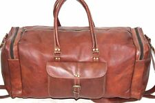 Bag Leather Travel Duffle Weekend Men Luggage Vintage Gym Overnight S Carry-on