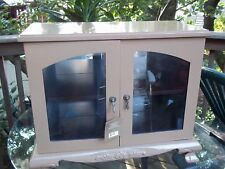 CURIO CABINET W/ SHELF AND MIRROR (local pick up only)