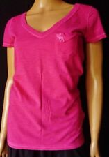 ABERCROMBIE & FITCH T-shirt TG.S in cotone 100% Fucsia