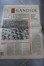 LE NOUVEAU CANDIDE N°9 1961 - PUTSCH CONFESSION CHIRURGIEN ACCUSE DEBRE BAC