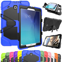 For Samsung Galaxy Tab E 8.0 9.6 Hybrid Rubber Shockproof Stand Armor Cover Case