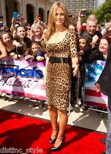 ICONIC GORGE 2DIE4 BUISTER DOLCE&GABBANA Brown/Black Leopard Print Silk Dress