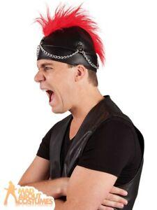Adult Mowhawk Punk Rocker Hat Mohican Biker 80s 90s Fancy Dress Outfit Accessory