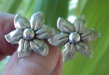 Attractive Danish Silver Floral / Flower Brooch c.1970s Hermann Siersbol Denmark