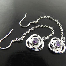 Silver Amethyst Fashion Earrings