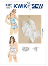 Kwik Sew Sewing Pattern 3167 Misses' Lingerie Sleepwear Camisoles Panties XS-L