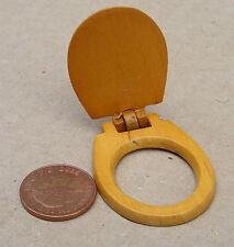 SCALA 1:12 Loose Tavoletta per WC in legno Casa delle Bambole Accessorio da Bagno in miniatura 228