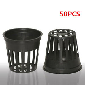"""US 2"""" INCH NET POTS (50 count) HYDROPONIC SYSTEM GROW CLONE CUP 50 COUNT New"""