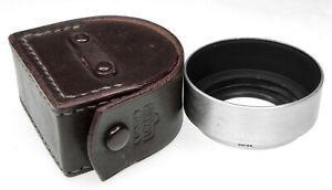 "Nippon Kogaku Chrome 36mm Screw-in Hood for 3.5cm f2.5,3.5 ""L"" SM version V.Rare"