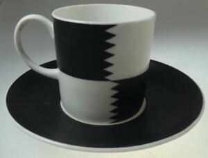 SUSIE COOPER HERALDRY BLACK COFFEE CUP + SAUCER PAT. NO. C2110