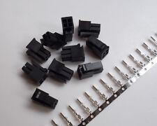 10 Kits ATX /EPS PCI-E Molex3.0 4P 4 Pin Male Power Connector terminal pins New