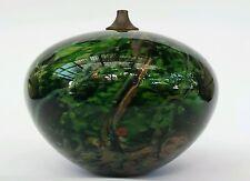 CHRIS PANTANO OIL BURNER . RAIN FOREST SERIES . AUSTRALIAN STUDIO / ART GLASS .