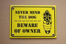 Beware of OWNER Emailschild Enamel sign Emaille 12 x 17 cm hand made Handarbeit