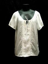 Cotton camisole ren fair Renaissance Victorian corset cover blouse size MEDIUM