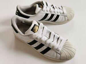 Used Adidas Men's Superstar Trainers, White-Black, C77124, UK 8.5 / FR 42⅔