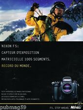 Publicité advertising 1996 Appareil Photo Nikon F5