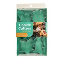 6 Pack Cookie Cutter Stainless Steel Gingerbread Star Heart Butterfly Christmas