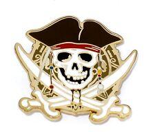 LE Retired Disney Store Pin✿Anniversary Pirates of Caribbean Skull Black Pearl