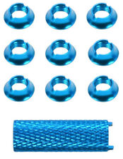 Apex RC Products Blue Aluminum Futaba 10CG 8FG 12Z 14MZ Radio Switch Nuts #1725