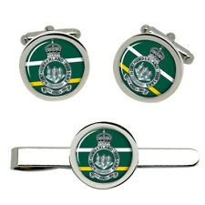 Northumberland Hussars, British Army Cufflinks and Tie Clip Set