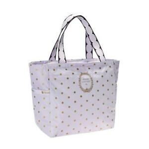 LeSportsac Laduree Collection Small Picture Tote Bag in Pois Cassis Violette NWT