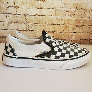 Vans Classic  Slip On Checkerboard  Black/ White Spicoli Sneakers  Womens Size 7