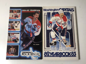 1982-1985 Washington Capitals Yearbook Lot of 2 Mint