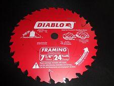 "Diablo D0724A 7-1/4"" 24T Circular Framing Saw Blade fits Dewalt DCS575 DWS535"