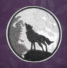 WOLF PATCH LONE WOLF PATCH HOWLING WOLF WILD ANIMALS WOLF PACK MOON BIKER DIY