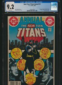 New Teen Titans Annual 2 DC 1983 CGC 9.2 1st Vigilante Adrian Chase Newsstand