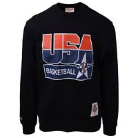 Mitchell & Ness Men's Dream Team 92' USA Basketball Black L/S Crewneck Sweater
