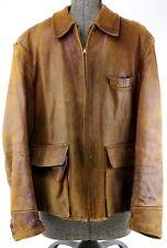 Mens Vintage WWII Era 1940's Lambskin Leather Jacket by Foster Sportswear RARE